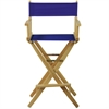 "American Trails Extra-Wide Premium 30""  Directors Chair Natural Frame W/Royal Blue Color Cover"