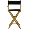 """American Trails Extra-Wide Premium 30""""  Directors Chair Natural Frame W/Black Color Cover"""