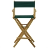 """American Trails Extra-Wide Premium 30""""  Directors Chair Natural Frame W/Hunter Green Color Cover"""