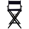 "American Trails Extra-Wide Premium 30""  Directors Chair Black Frame W/Navy Color Cover"