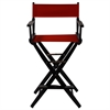 "American Trails Extra-Wide Premium 30""  Directors Chair Black Frame W/Red Color Cover"