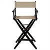 "American Trails Extra-Wide Premium 30""  Directors Chair Black Frame W/Natural Color Cover"