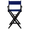 "American Trails Extra-Wide Premium 30""  Directors Chair Black Frame W/Royal Blue Color Cover"