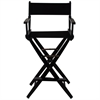"American Trails Extra-Wide Premium 30""  Directors Chair Black Frame W/Black Color Cover"