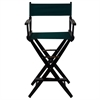 "American Trails Extra-Wide Premium 30""  Directors Chair Black Frame W/Hunter Green Color Cover"