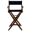 "American Trails Extra-Wide Premium 30""  Directors Chair Mission Oak Frame W/Navy Color Cover"