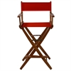 "American Trails Extra-Wide Premium 30""  Directors Chair Mission Oak Frame W/Red Color Cover"