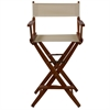 "American Trails Extra-Wide Premium 30""  Directors Chair Mission Oak Frame W/Natural Color Cover"