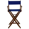 "American Trails Extra-Wide Premium 30""  Directors Chair Mission Oak Frame W/Royal Blue Color Cover"