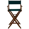 "American Trails Extra-Wide Premium 30""  Directors Chair Mission Oak Frame W/Hunter Green Color Cover"