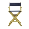 "24"" Director's Chair Natural Frame-Navy Blue Canvas"
