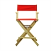 "24"" Director's Chair Natural Frame-Red Canvas"