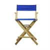 "24"" Director's Chair Natural Frame-Royal Blue Canvas"