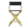 """24"""" Director's Chair Natural Frame-Black Canvas"""