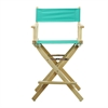 "24"" Director's Chair Natural Frame-Teal Canvas"