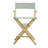"""24"""" Director's Chair Natural Frame-Gray Canvas"""