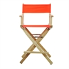 "24"" Director's Chair Natural Frame-Orange Canvas"