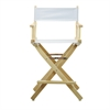 """24"""" Director's Chair Natural Frame-White Canvas"""