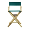 "24"" Director's Chair Natural Frame-Hunter Green Canvas"