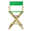 "24"" Director's Chair Natural Frame-Green Canvas"