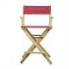 "24"" Director's Chair Natural Frame-Burgundy Canvas"