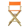 """24"""" Director's Chair Natural Frame-Tangerine Canvas"""