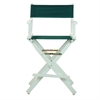 "24"" Director's Chair White Frame-Hunter Green Canvas"