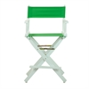 "24"" Director's Chair White Frame-Green Canvas"