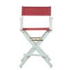 "24"" Director's Chair White Frame-Burgundy Canvas"