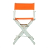 "24"" Director's Chair White Frame-Tangerine Canvas"