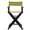 "24"" Director's Chair Black Frame-Olive Canvas"