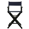"24"" Director's Chair Black Frame-Navy Blue Canvas"
