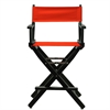 """24"""" Director's Chair Black Frame-Red Canvas"""