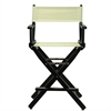 "24"" Director's Chair Black Frame-Natural/Wheat Canvas"