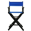 "24"" Director's Chair Black Frame-Royal Blue Canvas"