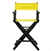 """24"""" Director's Chair Black Frame-Yellow Canvas"""