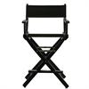 "24"" Director's Chair Black Frame-Black Canvas"
