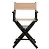 "24"" Director's Chair Black Frame-Tan Canvas"