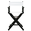 "24"" Director's Chair Black Frame-White Canvas"
