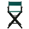 "24"" Director's Chair Black Frame-Hunter Green Canvas"