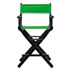 "24"" Director's Chair Black Frame-Green Canvas"