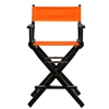 "24"" Director's Chair Black Frame-Tangerine Canvas"