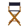 "24"" Director's Chair Honey Oak Frame-Navy Blue Canvas"