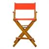 "24"" Director's Chair Honey Oak Frame-Orange Canvas"