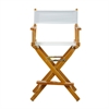 "24"" Director's Chair Honey Oak Frame-White Canvas"