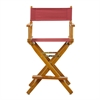 "24"" Director's Chair Honey Oak Frame-Burgundy Canvas"