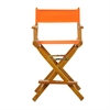 "24"" Director's Chair Honey Oak Frame-Tangerine Canvas"