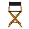 "24"" Director's Chair Honey Oak Frame-Black Canvas"