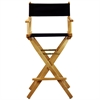 "30"" Director's Chair Natural Frame-Navy Blue Canvas"