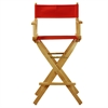 "30"" Director's Chair Natural Frame-Red Canvas"